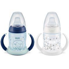 Lot de 2 tasses d'apprentissage bleu First Choice + (150 ml)