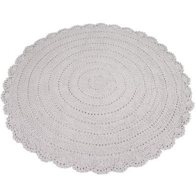tapis rond en crochet taupe diamtre 110 cm kids depot. Black Bedroom Furniture Sets. Home Design Ideas