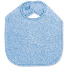 Bavoir à velcro Stary bleu shade à points (37 cm)
