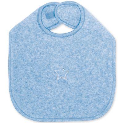 Bavoir à velcro Stary bleu shade à points (37 cm)  par Bemini