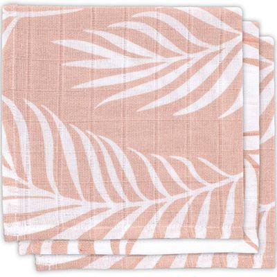 Lot de 3 minis langes Nature rose pâle (31 x 31 cm)  par Jollein