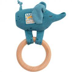 Hochet anneau en bois éléphant Sous mon baobab