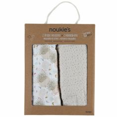 Lot de 2 draps housses en mousseline bio Lina & Joy (70 x 140 cm)