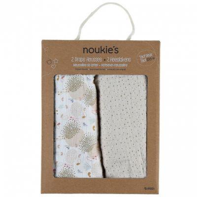 Lot de 2 draps housses en mousseline bio Lina & Joy (70 x 140 cm)  par Noukie's