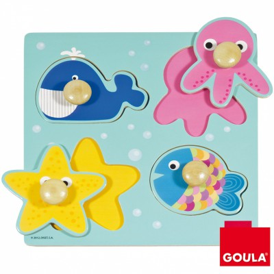 Puzzle à encastrement mer  par Goula