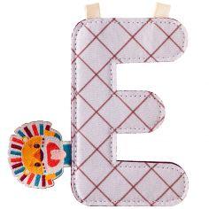Lettre en tissu à suspendre E Jack (9,5 cm)