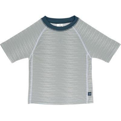 Tee-shirt anti-UV manches courtes rayé col marine (18 mois)  par Lässig
