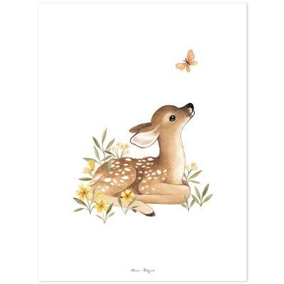 Affiche faon Oh deer (30 x 40 cm)  par Lilipinso