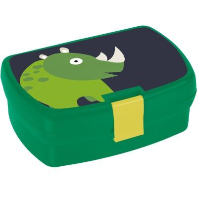 Boîte à goûter rhinocéros Wildlife vert  par Lässig