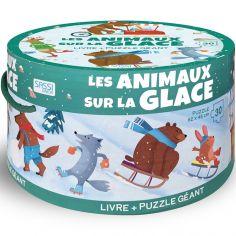 Livre et puzzle géant Les animaux sur la glace