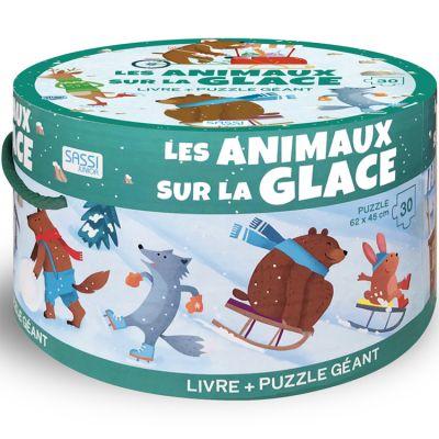 Livre et puzzle géant Les animaux sur la glace Sassi Junior