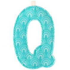 Lettre en tissu à suspendre Q (9,5 cm)