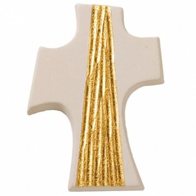 Petite croix Rayon doré  par Centro Ave Ceramica