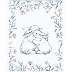 Affiche encadrée lapin d'amour  (30 x 40 cm)