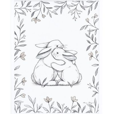Affiche encadrée lapin d'amour  (30 x 40 cm)  par Lilipinso