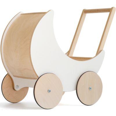 Landau de poupée en bois blanc  par ooh noo