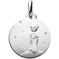 Médaille Le Petit Prince sur sa planète (argent 950°)