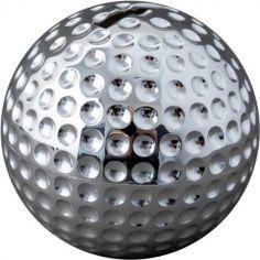 Tirelire Balle de golf (métal argenté)