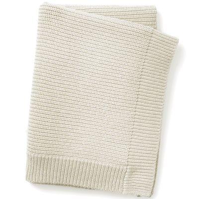 Couverture en coton et laine crème Vanilla White (100 x 70 cm)  par Elodie Details