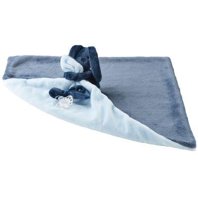 doudou plat attache sucette lapidou bleu marine et bleu. Black Bedroom Furniture Sets. Home Design Ideas