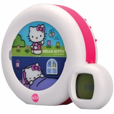Veilleuse indicateur de réveil Moon Hello Kitty blanc et rose