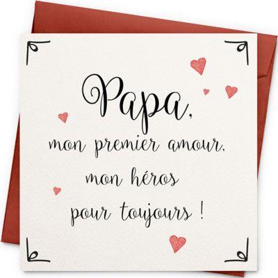 Carte Papa mon premier amour (13 x 13 cm)  par La Poupette à paillettes