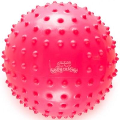 Balle tactile fluo rose  par BabyToLove