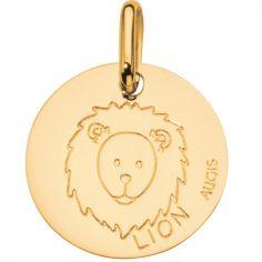 Médaille Zodiaque lion 14 mm (or jaune 750°)