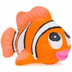 Poisson clown de bain latex d'hévéa orange