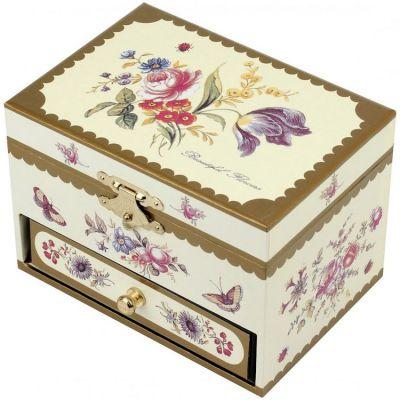 Coffret bijoux musical fleurs trousselier - Boite a bijoux originale ...