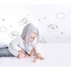 Planche de stickers lapin et nuage (A3)