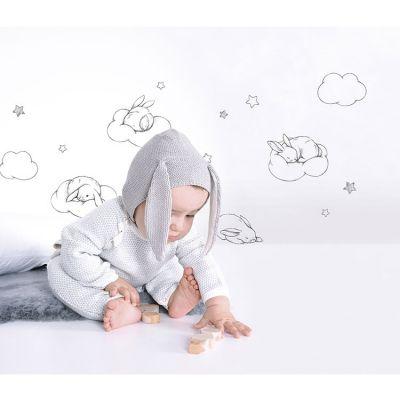Planche de stickers lapin et nuage (A3)  par Lilipinso