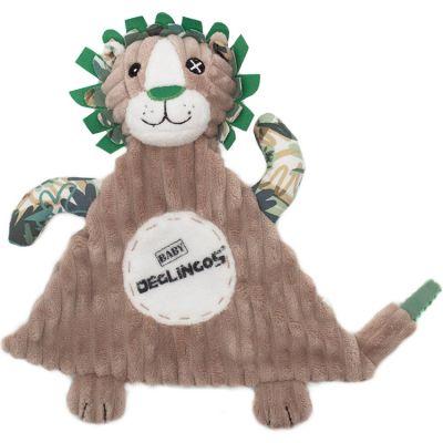 Doudou plat baby Jélékros le lion (28 cm) Les Déglingos