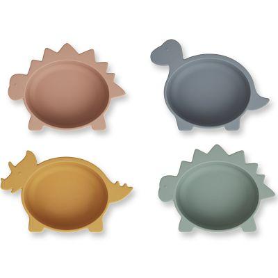 Lot de 4 bols en silicone Iggy Dino multicolore  par Liewood