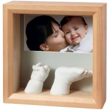 Cadre photo empreinte 3D My Baby Sculpture miel  par Baby Art