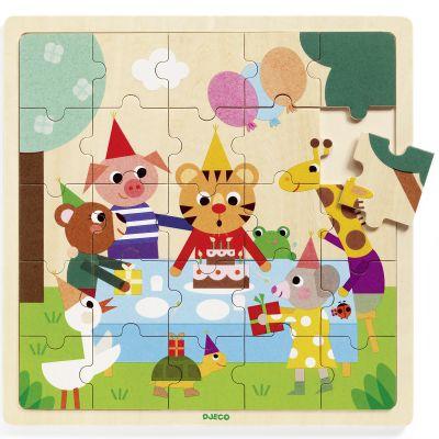 Puzzle en bois Puzzlo Happy (25 pièces)  par Djeco