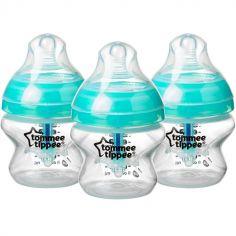 Lot de 3 biberons Anti-colique avancé turquoise (150 ml)