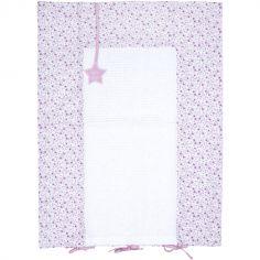 Housse de matelas à langer Liberty rose (60 x 80 cm)