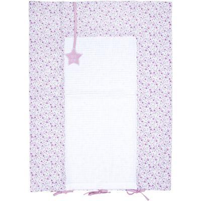 Housse de matelas à langer Liberty rose (60 x 80 cm)  par BB & Co