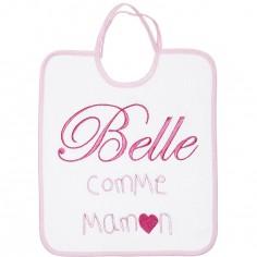 Bavoir à nouer Belle comme maman rose