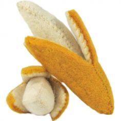 Lot de 2 bananes en feutrine