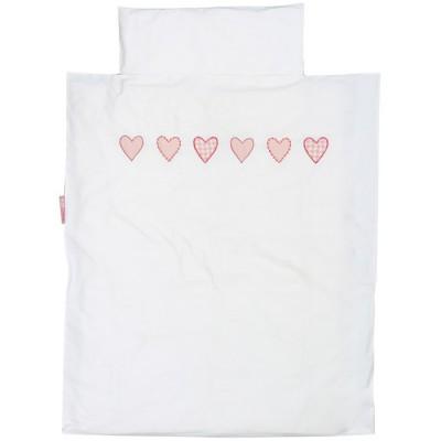 Housse de couette et taie d 39 oreiller coeur patchwork rose 100 x 135 cm par taftan - Housse de couette 100 x 120 ...