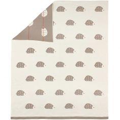 Couverture bébé hérisson en jacquard de coton (80 x 100 cm)