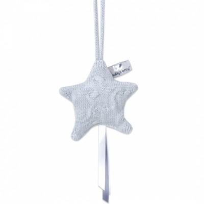 Etoile décorative à suspendre Cable Uni gris  par Baby's Only
