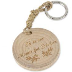 Porte-clés en bois Tu es une Mamie qui déchire