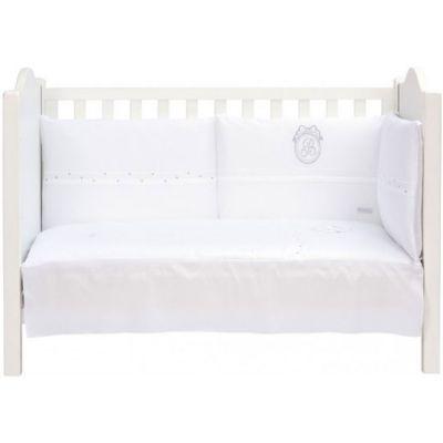 Tour de lit blanc Pur (pour lits 60 x 120 cm et 70 x 140 cm)  par Nougatine
