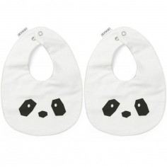 Lot de 2 bavoirs à pression Henry Panda