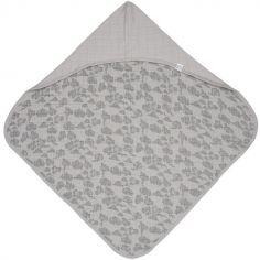 Cape de bain Bubbler Solid Mist gris (90 x 90 cm)
