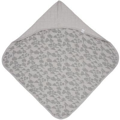 Cape de bain Bubbler Solid Mist gris (90 x 90 cm)  par Lodger