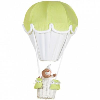 Lampe montgolfière vert anis et blanc   par Domiva